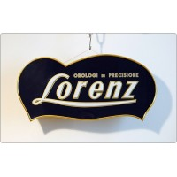 Banner Advertising Light LORENZ, Made in Italy 1950