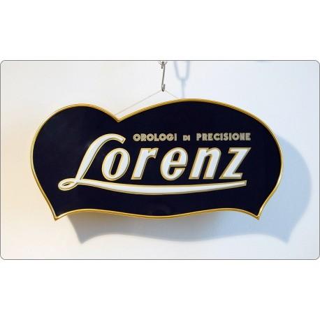 Insegna Luminosa LORENZ, Made in Italy 1950