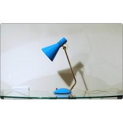 Lampada da Tavolo / Scrivania STILNOVO, Mod. 8042, Italy 1959 - Azzurro