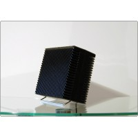 Table Fan ARIANTE Vortice, Made in Italy 1973, Design M. Zanuso - Black