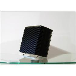 Ventilatore da Tavolo ARIANTE Vortice, Made in Italy 1973, Design M. Zanuso - NERO