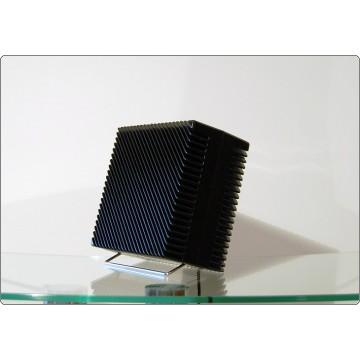 Table Fan ARIANTE Vortice, Made in Italy 1973, Design M. Zanuso - Black