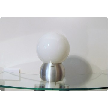 Table Lamp STILUX Milano, Opal Glass, Made in Italy 1960
