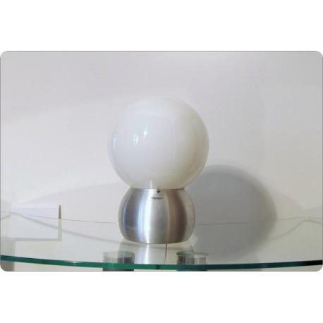 Lampada da Tavolo STILUX Milano, Opal Glass, Made in Italy 1960