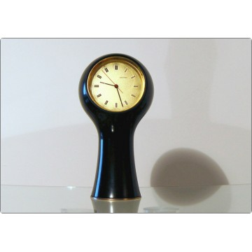 Table Clock SECTICON Mod. T1, Design A. Mangiarotti, Swiss Made 1956 - Black Color