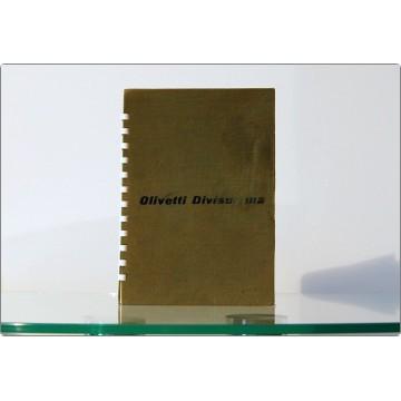 OLIVETTI Divisumma 14 - Libretto di Istruzioni, uso e manutenzione