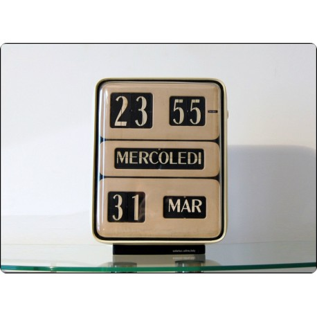 Table Clock / Wall Solari Udine, Mod. DATOR 5 First Edition - Italy 1955