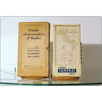 CAMPARI Mappa Automatica d'Italia 1951 - Bachelite