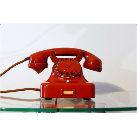 Desk Phone SIEMENS Mod. W 48 LIMITED - Bakelite - RED