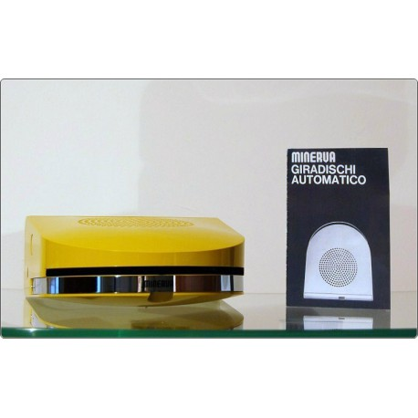 MINERVA Pop GA45 Portable Record Player - Design M. Bellini 1968