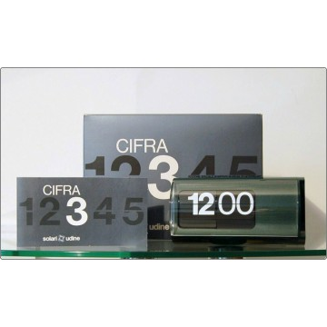 Table Clock Solari Udine Mod. CIFRA 3 - LIMITED EDITION MoMa 1990 - GREEN Color
