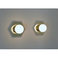 Pair of Wall Sconces GLASS SPHERE Art. A-024 - Brass structure