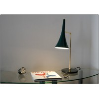 Table Lamp Art. TL-062 - Brass / Marble - GREEN Color