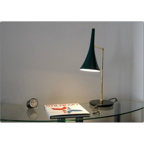 Table Lamp Art. TL-062 - Brass / Marble - GREEN