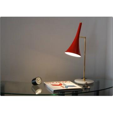 Lampada da Tavolo Art. TL-060 - Ottone / Marmo - ROSSO
