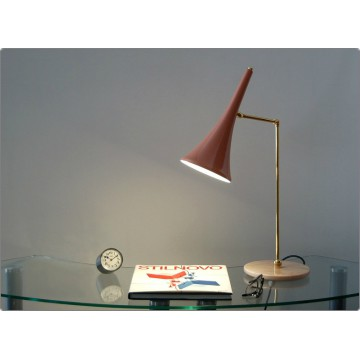 Table Lamp Art. TL-058 - Brass / Marble - PINK Color