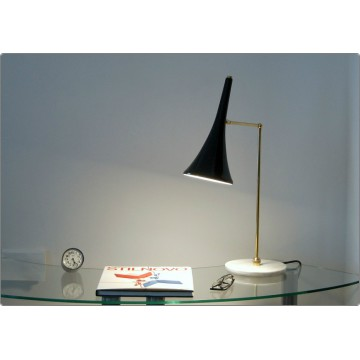 Table Lamp Art. TL-066 - Brass / Marble - BLACK Color