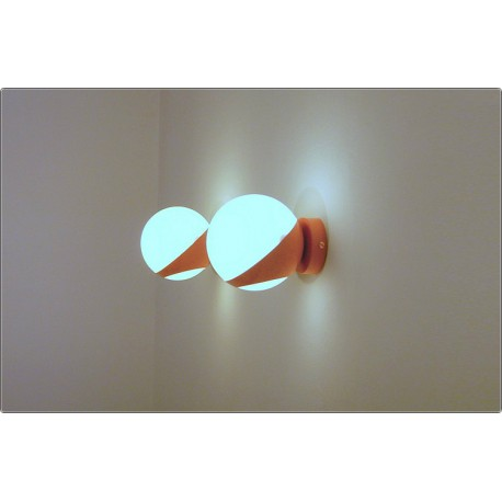 Pair of Wall Light GLASS SPHERE Art. A-027 - PINK Color