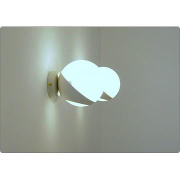 Applique SFERA GLASS Art. A-019 - BIANCO