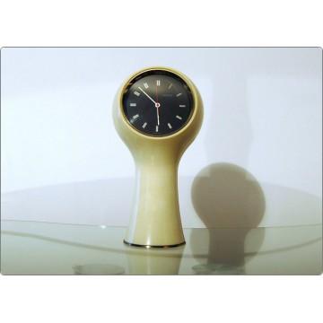 Table Clock SECTICON Mod. T1, Design A. Mangiarotti, Swiss Made 1956 - WHITE