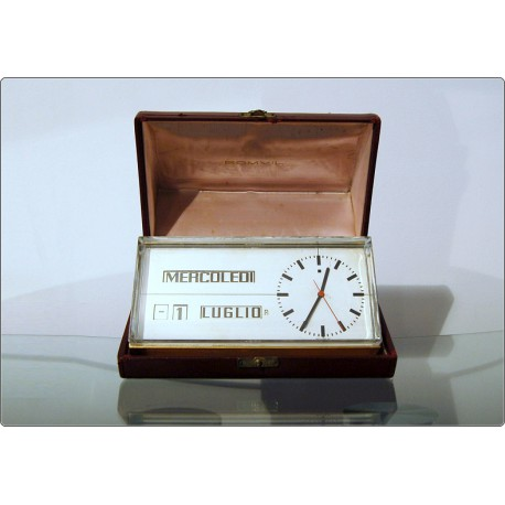 Table Clock R. DESSOMVILLE - Portescap Swiss Made