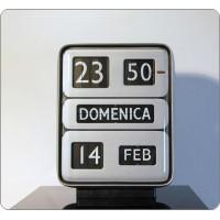 Orologio da Tavolo / Parete Solari Udine, Mod. DATOR 5, Design G. Valle, Italy 1955